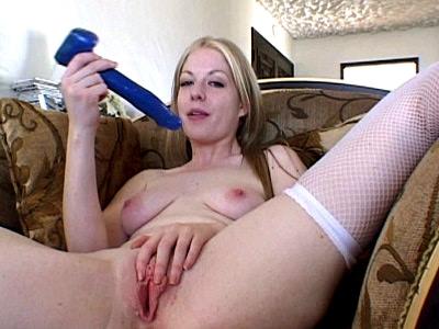 dildo Crammed Blonde Lesbian